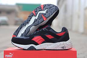 Замшевые мужские кроссовки Puma Trinomic,темно синие с красным,45р, фото 3