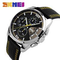 Водонепроницаемые, мужские часы Skmei 9106 spider, класические ударостойкие