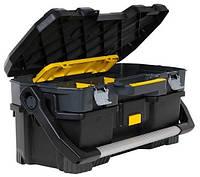 """Открытый профессиональный пластмассовый ящик для инструмента со съемным кейсом 24"""" Stanley 1-97-506"""