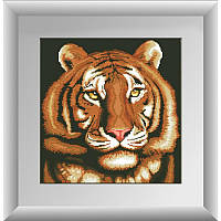 Портрет тигра. Dream Art. Набор алмазной живописи (квадратные, полная) (D4136)