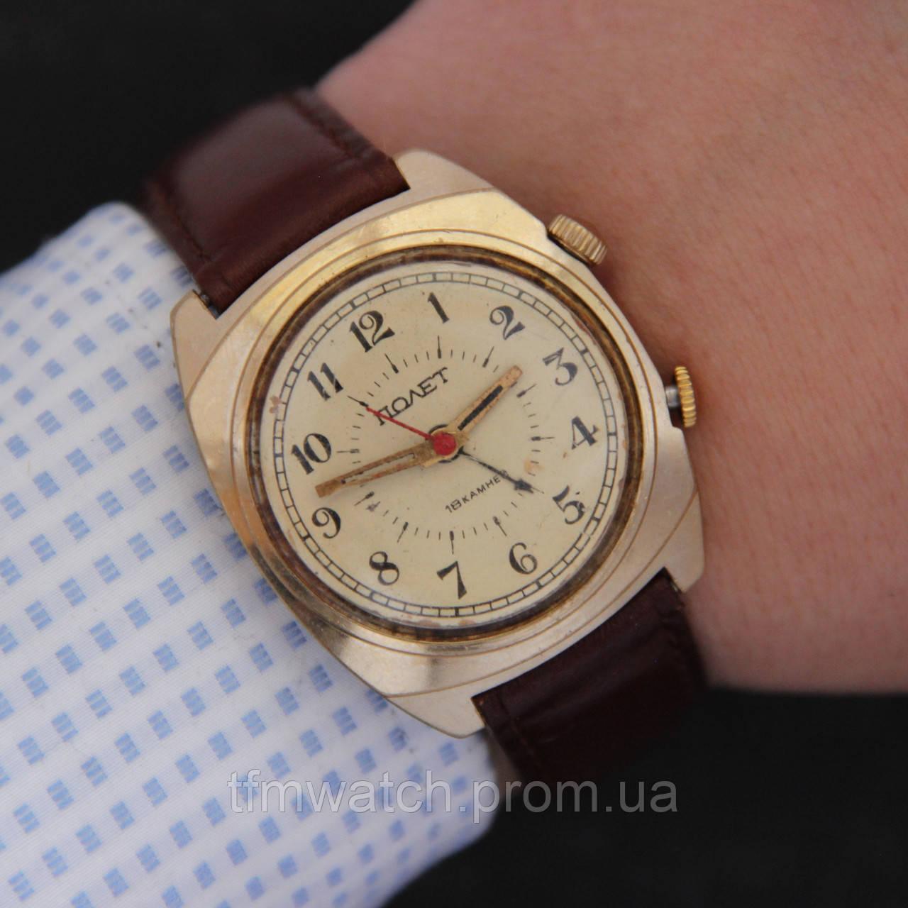 Механические часы с будильником наручные часы