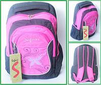 Рюкзак 2 отд,, 44*29*17см, Soft PL ,корич,-роз,,9467,SAF