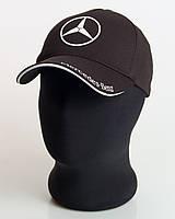 """Мужская бейсболка с автологотипом """"Mercedes-Benz"""" черного цвета (лакоста пятиклинка)."""