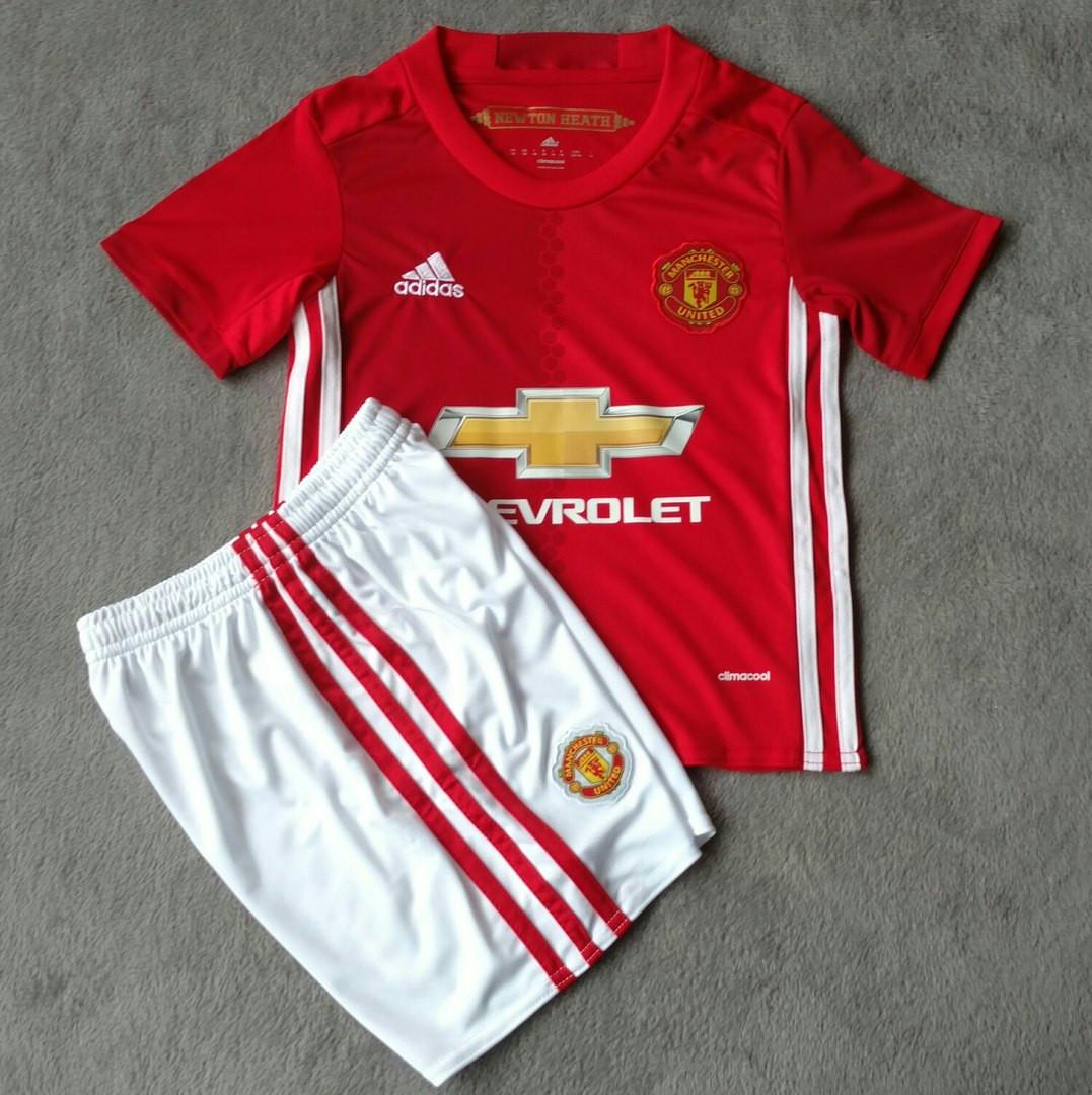 Детская футбольная форма Манчестер Юнайтед красная сезон 16-17