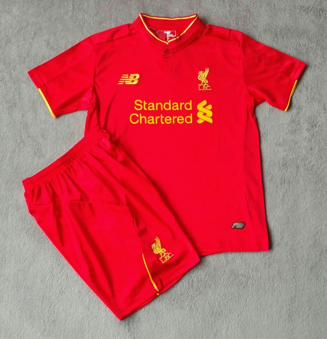 Детская футбольная форма Ливерпуль красная сезон 16-17