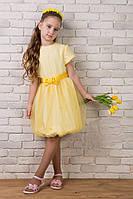 Яркое желтенькое платье для девочки, фото 1