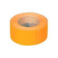 Ценник прямоугольный 22*12 мм, оранжевый, внешняя намотка, 500шт/6метров, 140604