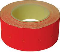 Ценник прямоугольный 22*12 мм, красный, внешняя намотка, 500шт/6метров, 140603