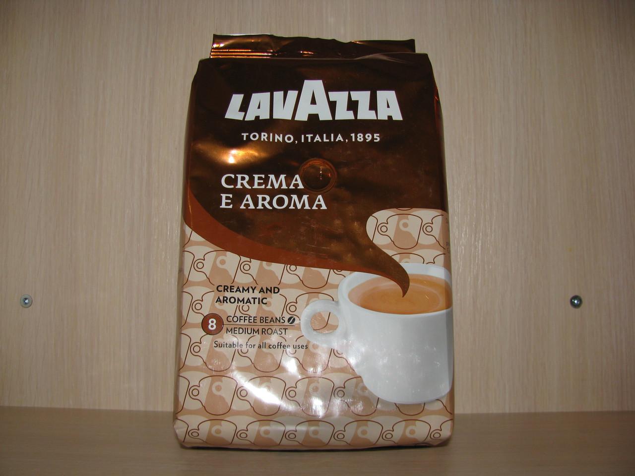 Кофе Lavazza Crema е Aroma - 1 кг (зерно) Новая упаковка