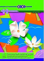 Набор цветной бумаги А4, самоклеящаяся, 9 листов глянцевая, 2 неон, ZIBI, ZB.1949, 175141