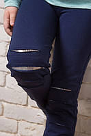 Детские лосины с модными разрезами на коленях