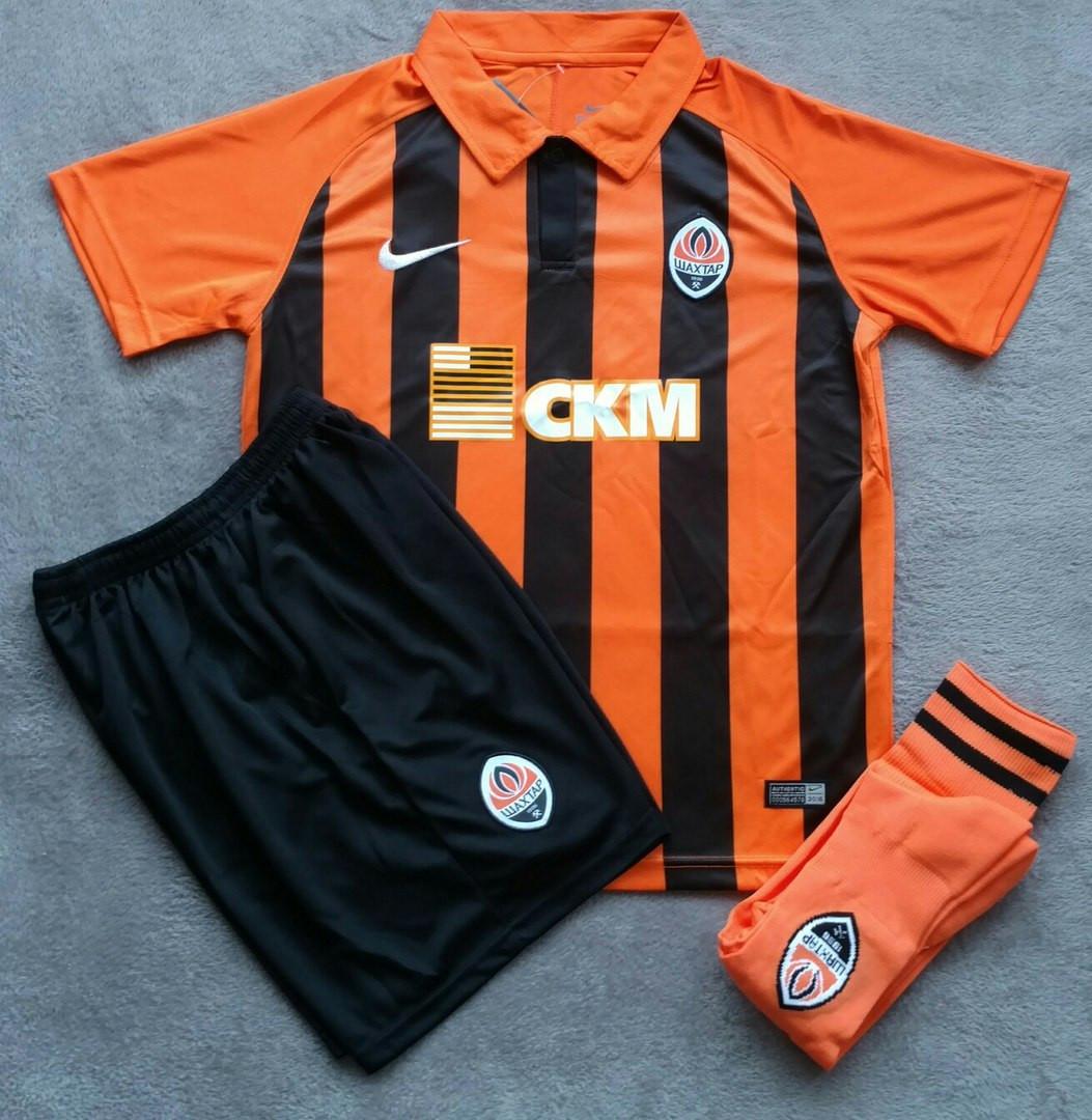 Детская футбольная форма Шахтер оранжево-черная сезон 16-17