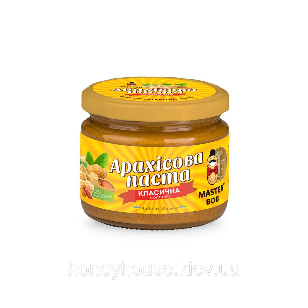 Паста арахисовая  классическая сладкая ТМ Мастер Боб, 200гр