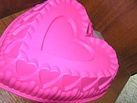 Силиконовая форма для выпечки и желе Сердце 29х25х7 см