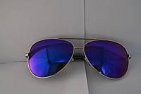 Солнцезащитные очки Авиаторы с синими линзами
