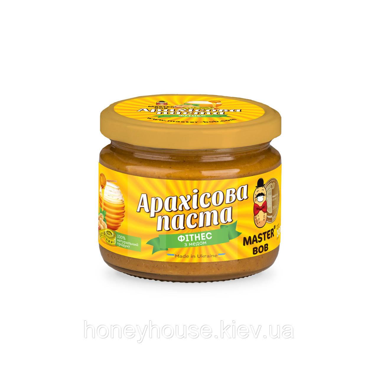 Паста арахисовая фитнесс с медом ТМ Мастер Боб, 300гр