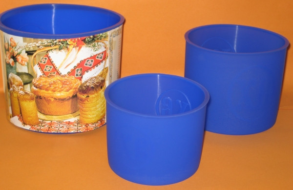 Набор силиконовых форм для выпечки Пасхального кулича 3 шт