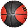 М'яч баскетбольний гумовий Wilshi №7 B7-12 бордовий з чорним, фото 2