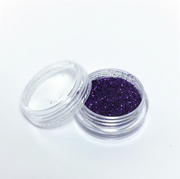 Блестки для ногтей в баночке, цвет фиолетовый