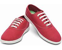Туфли мужские текстильные вансы Кроксы ЛоПро Плим оригинал / Crocs Men's LoPro Canvas Plim Sneaker 41, Красный