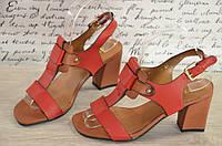 Элегантные босоножки удобный каблук  35 по 39р.red