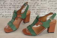 Элегантные босоножки удобный каблук  35 по 40р,green .п