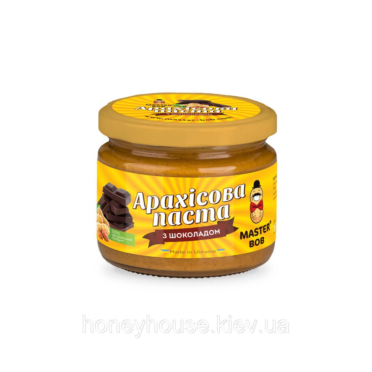 Паста арахисовая с шоколадом ТМ Мастер Боб, 200гр
