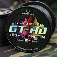 Gardner Леска карповая GT-HD (GT-HD  12lb (5.4kg) LOW-VIZ GREEN 0.33mm )
