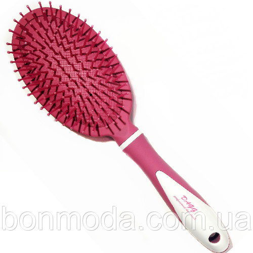 Щетка массажная мягкая с пластиковой щетиной Dagg розовая
