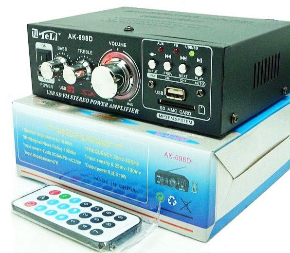 Аудио усилитель AK-698D  мощности звука MP3 с караоке