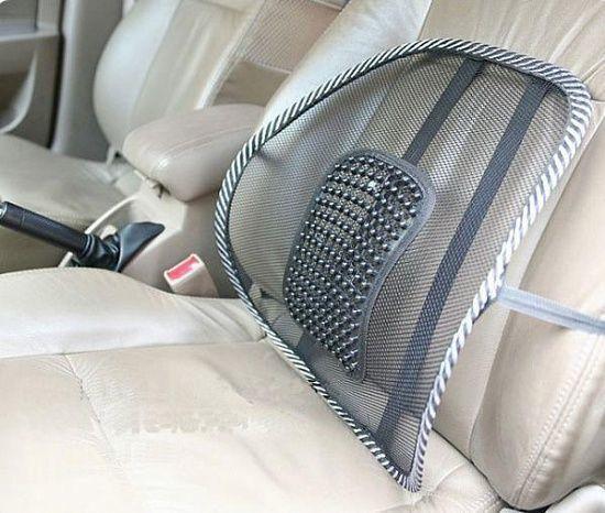 Поясничный упор-массажер для спины подходит в офисное кресло и в авто