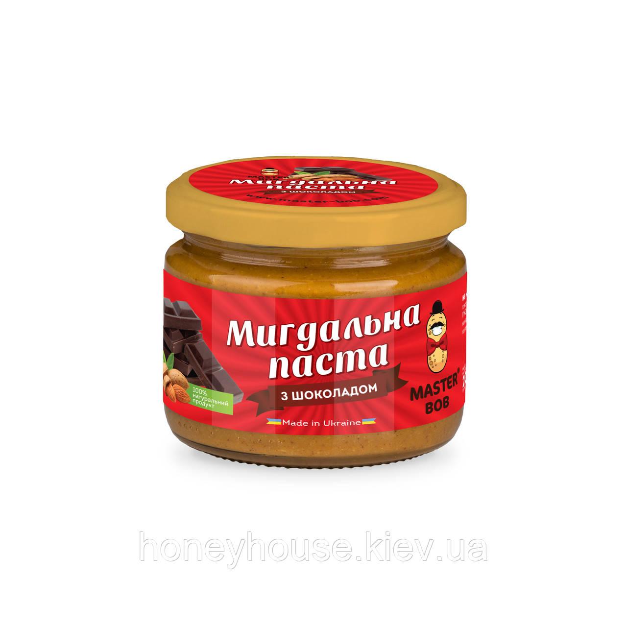 Паста миндальная с шоколадом ТМ Мастер Боб, 200гр