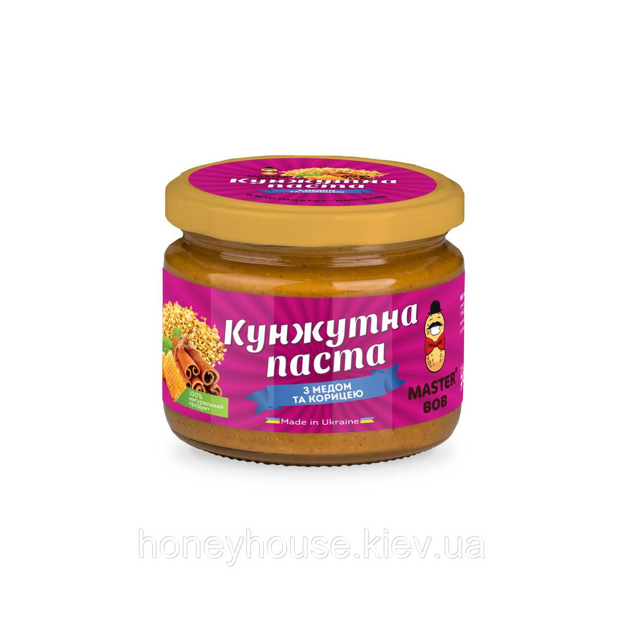 Паста кунжутная с медом и корицей ТМ Мастер Боб, 200гр
