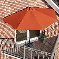Полукруглый зонт панама для балкона и терасс фирмы HOMEKRAFT