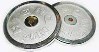 Блины (диски) хром. 30мм 2 по 20кг