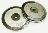Блины для штанги хром 2 по 15кг (диам. 52мм)