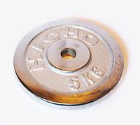 Блины для штанги хром 2 по 5кг (диам. 30мм)