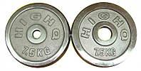 Блины для штанги хром 2 по 7,5кг (диам. 52мм)