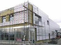 Устройство вентилируемого фасада +из композитных панелей