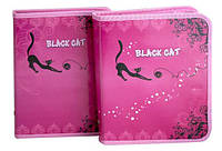 "Папка для тетрадей B5 на змейке с рисунком (картон) ""Black Cat"" 7863"