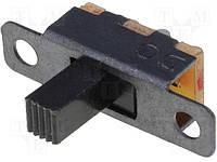 S1501 (Переключатель: движковый; 2; SPDT; 0,5A/24ВDC; ON-ON; Кол-во выв:3)