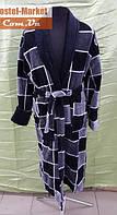 Мужской халат велюр серый V03 ZERON