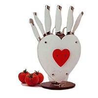 Набор Кухонных Ножей Kitchen Knife Shangxing А190 с Подставкой Сердце 8 Предметов