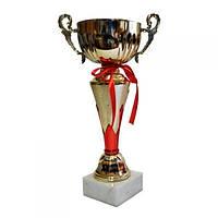 Кубок с чашей на камне 34 см(красный)