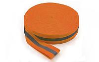 Лента для разметки спортивных площадок C-4896OR-100 (полиэстер, l-100м, оранжевый)