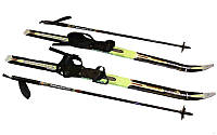 Лыжи беговые в комплекте с палками ZEL SK-1883-100А (l-лыж-100см, l-пал.-80см, PVC чехол, крепл. нерег)