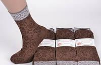 Носки женские капроновые с рисунком Ласточка С-237, мокко, 1629