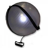 Мяч для фитнеса с эспандерами (фитбол) PS гладкий 65см FI-0702B-65 (PVC,1100г, цвета в ассор, ABS-сис)