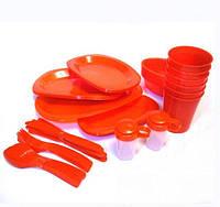 Набор пластиковой посуды на 6 персон