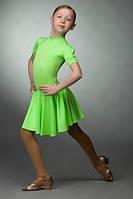 """Рейтинговое платье для бальных танцев (бейсик) """"Фонарик"""" 802 р. 28 - р. 36"""
